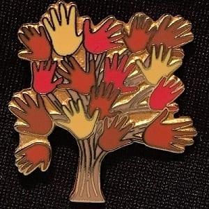 Pin – Autumn Hand Tree