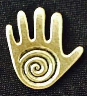 Pin – Pewter Healing Hand  (Bronze)